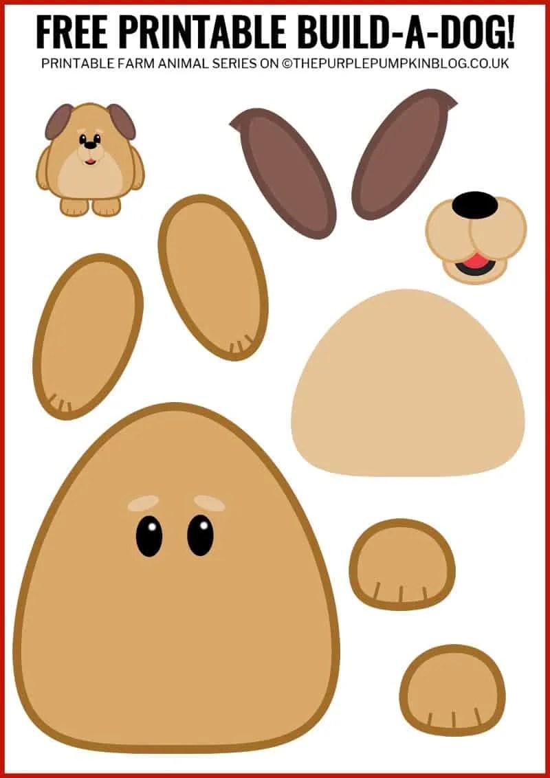 - Free Printable Build-A-Dog / Printable Animals Series