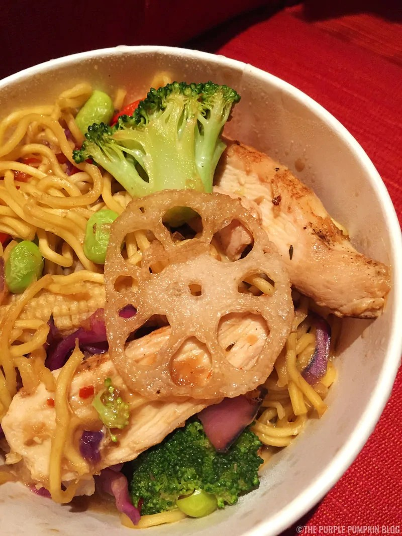 Pan Asian Noodles with Chicken, Capt. Cook's, Disney's Polynesian Village Resort