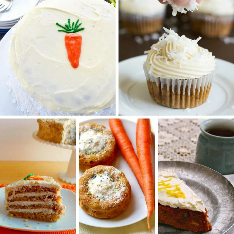 Yummy Carrot Cake Recipes covered with frosting!