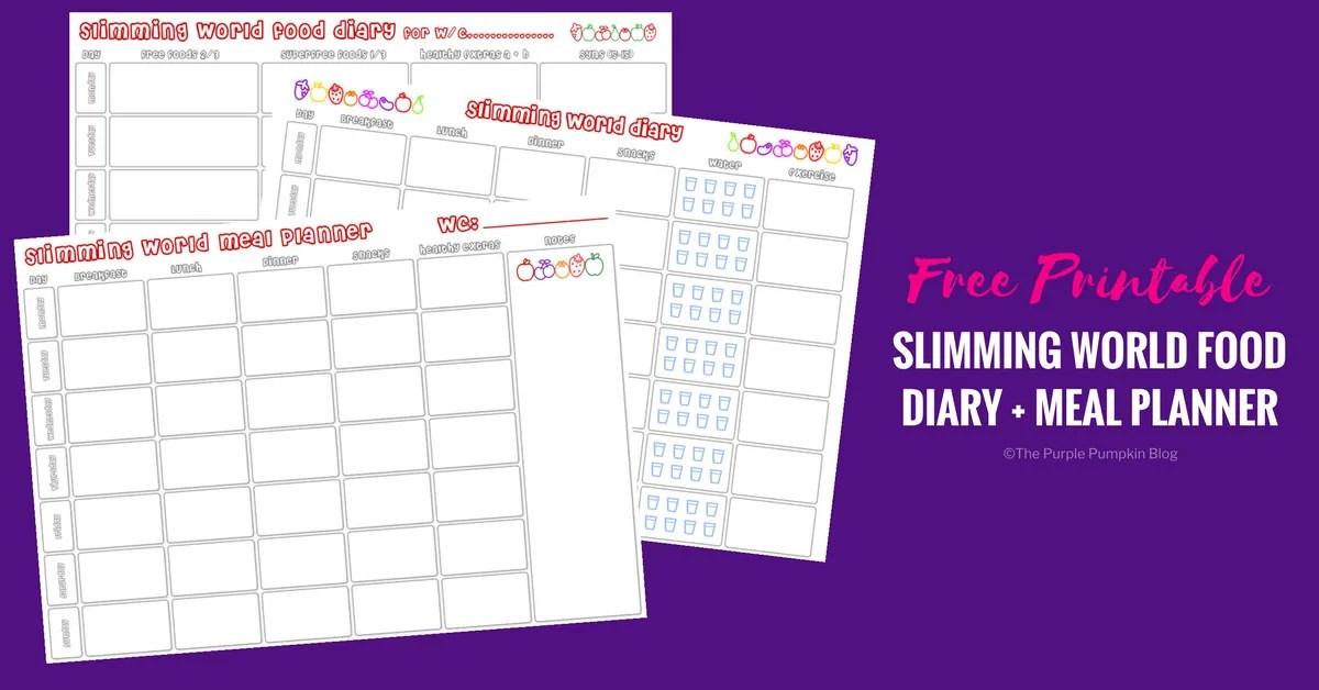 slimming world food plan sheet