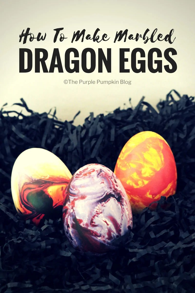 "How to make marbled dragon eggs. Using marbling ink is a fun and beautiful way to decorate paper, but what about using the technique to decorate other things, like these""dragon"" eggs? This tutorial shows you how!"
