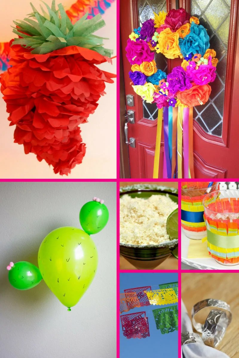 17+ Fun & Creative Mexican Crafts - If you're looking for some fun and creative Mexican crafts to decorate for your fiesta for Cinco de Mayo or a Mexican themed party, look no further! Tissue paper is one of the main things you will need for a lot of these crafts, which are bright and colourful and perfect for celebrating with!