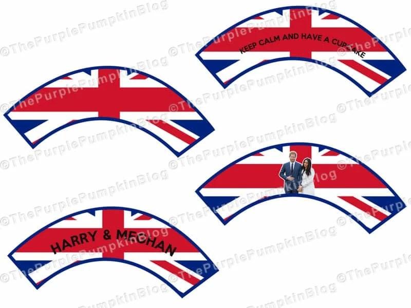 Royal Wedding Cupcake Wrappers
