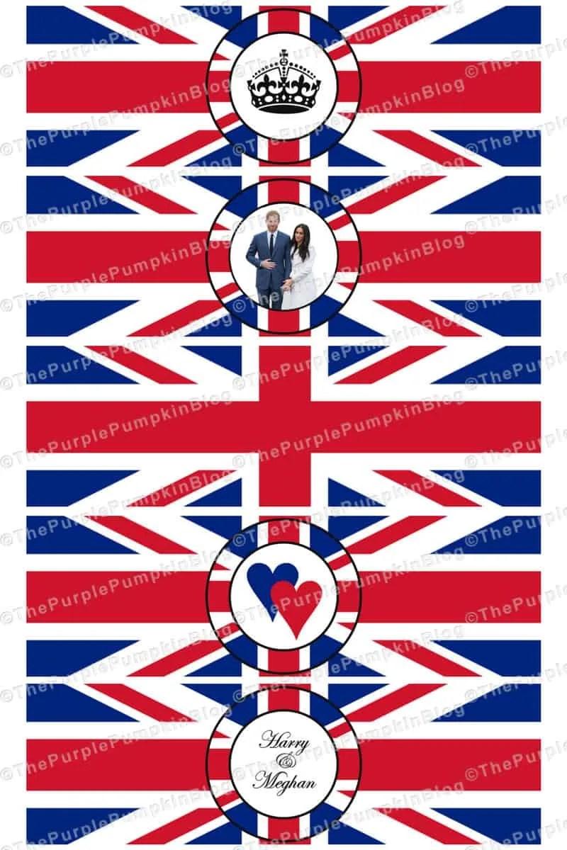 Royal Wedding Napkin Wrappers