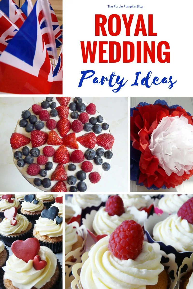 Royal Wedding Party Ideas - lots of inspiration from decor to food to help you plan and throw a Royal Wedding Viewing Party!