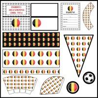 Belgium: Football Party Printable Set