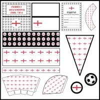 England: Football Party Printable Set