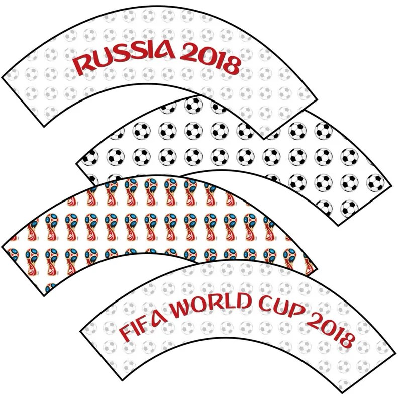 Free Printable World Cup Cupcake Wrappers