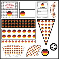 Germany: Football Party Printable Set