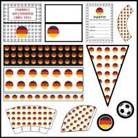 Germany: Football Party Printable Set