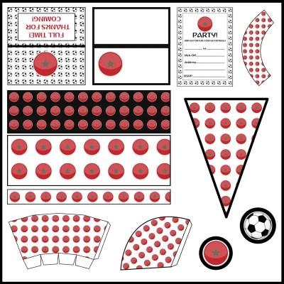 Morocco: Football Party Printable Set
