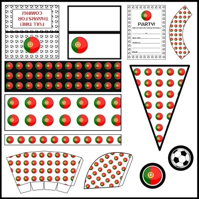 Portugal: Football Party Printable Set