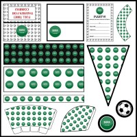 Saudi Arabia: Football Party Printable Set