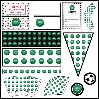Saudi Arabia: Football Party Printable Set