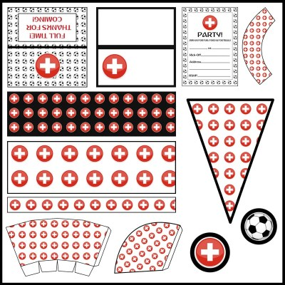 Switzerland - Football Party Printable Set