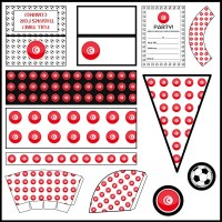 Tunisia - Football Party Printable Set