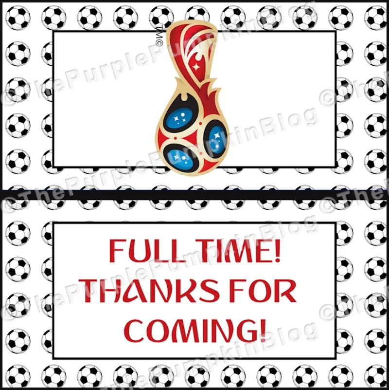 World Cup Favor Bag Labels