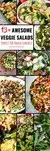 Do you find yourself having the same food for lunch, day in, day out? Stuck for ideas of what to prepare for packed lunches for work/college/school? You've hit the right spot on the internet because here are 13+ awesome vegetable salads that are simply delicious and can be packed in a lunch box or mason jar to take on the go.