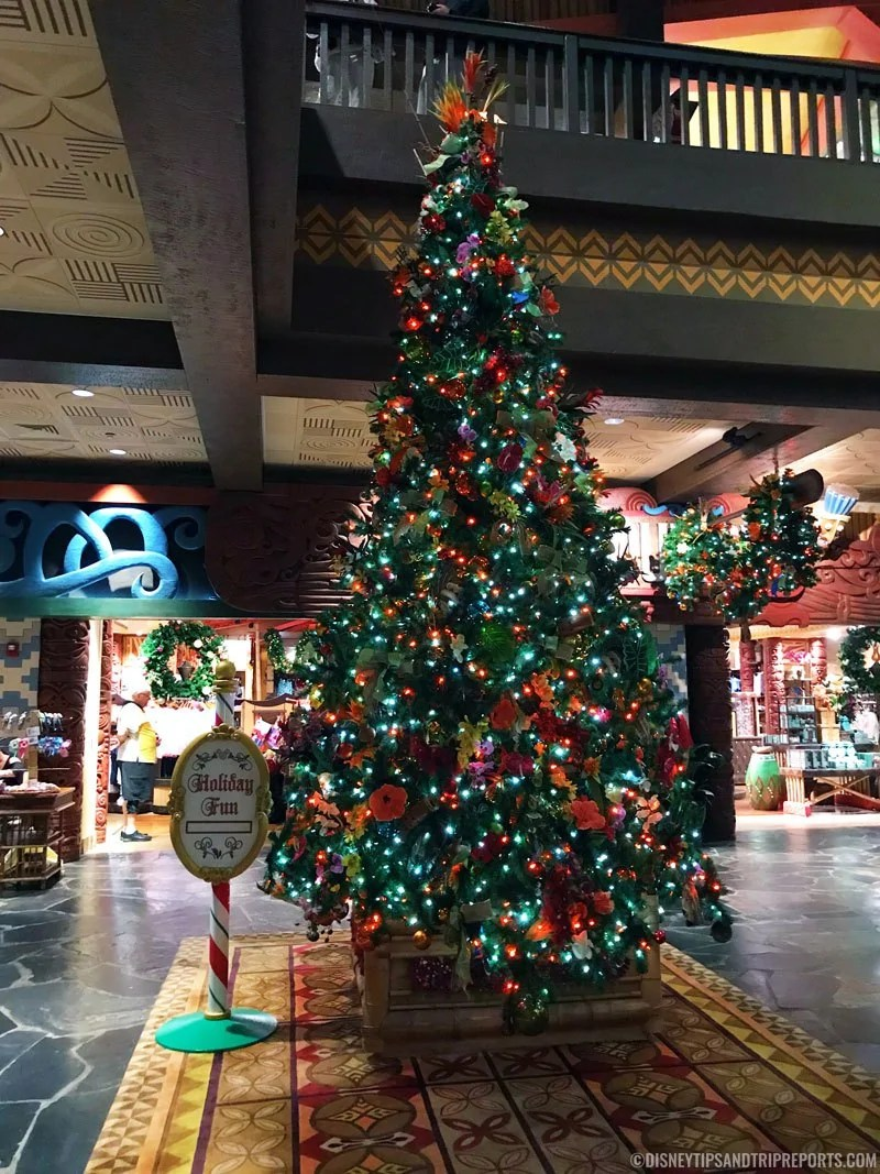 Disney's Polynesian Resort Christmas Tree