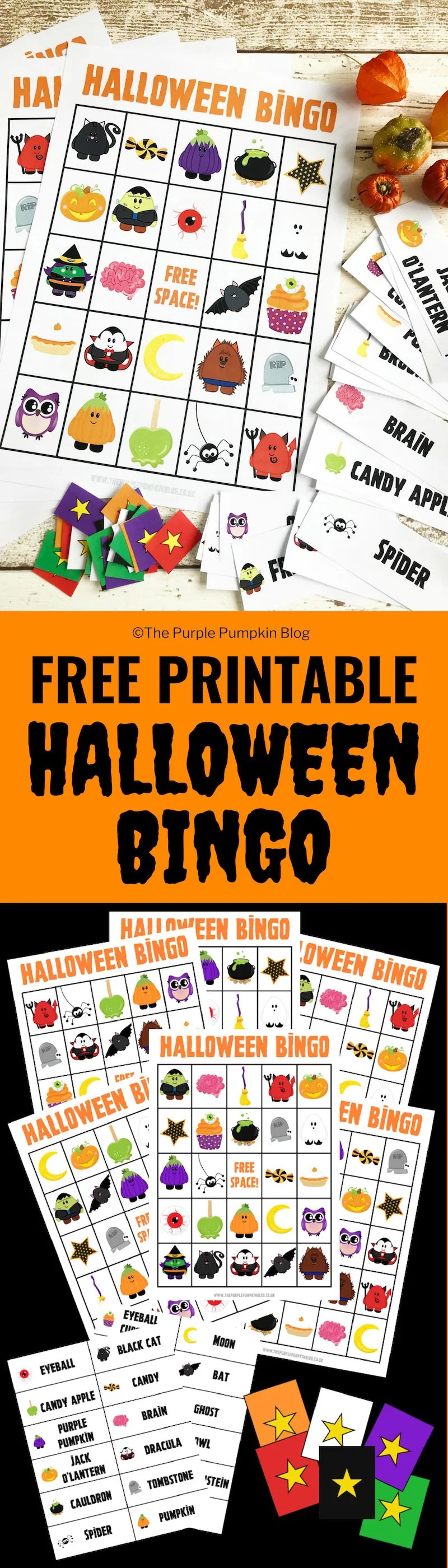 image about Free Printable Halloween Bingo named Enjoyment No cost Printable Halloween Bingo Match!