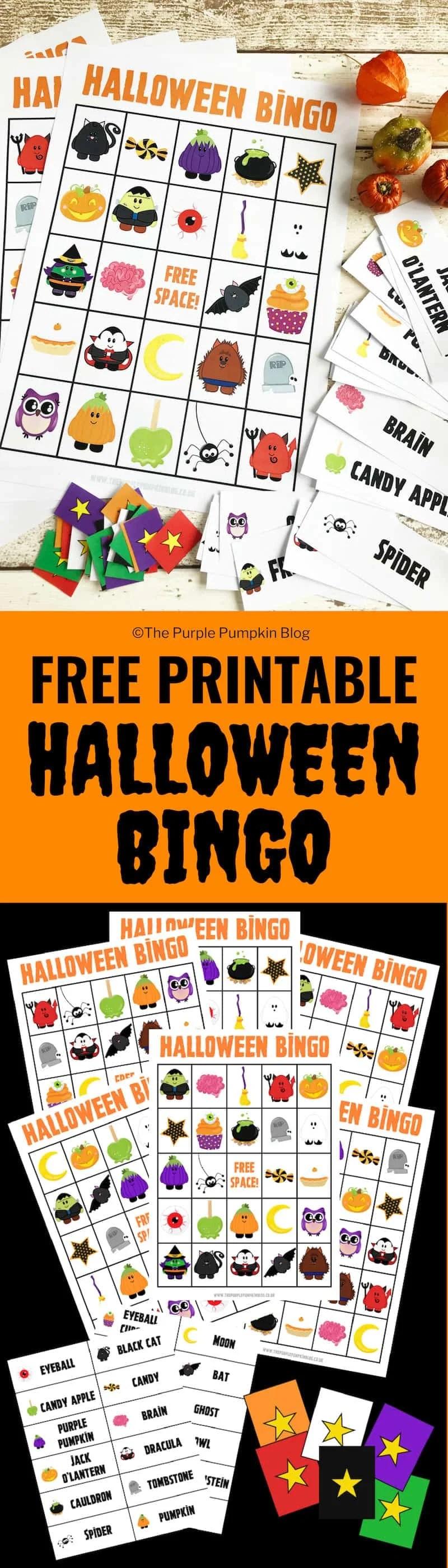 photo about Halloween Bingo Free Printable named Pleasurable Free of charge Printable Halloween Bingo Activity!