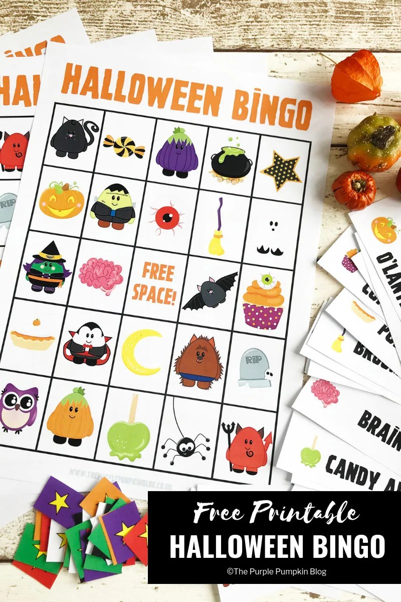 It's just an image of Halloween Bingo Printable regarding halloween party