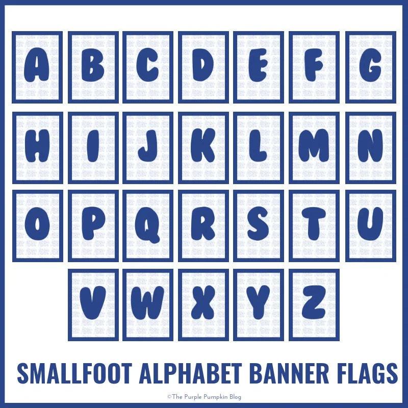 Smallfoot - Alphabet-Banner