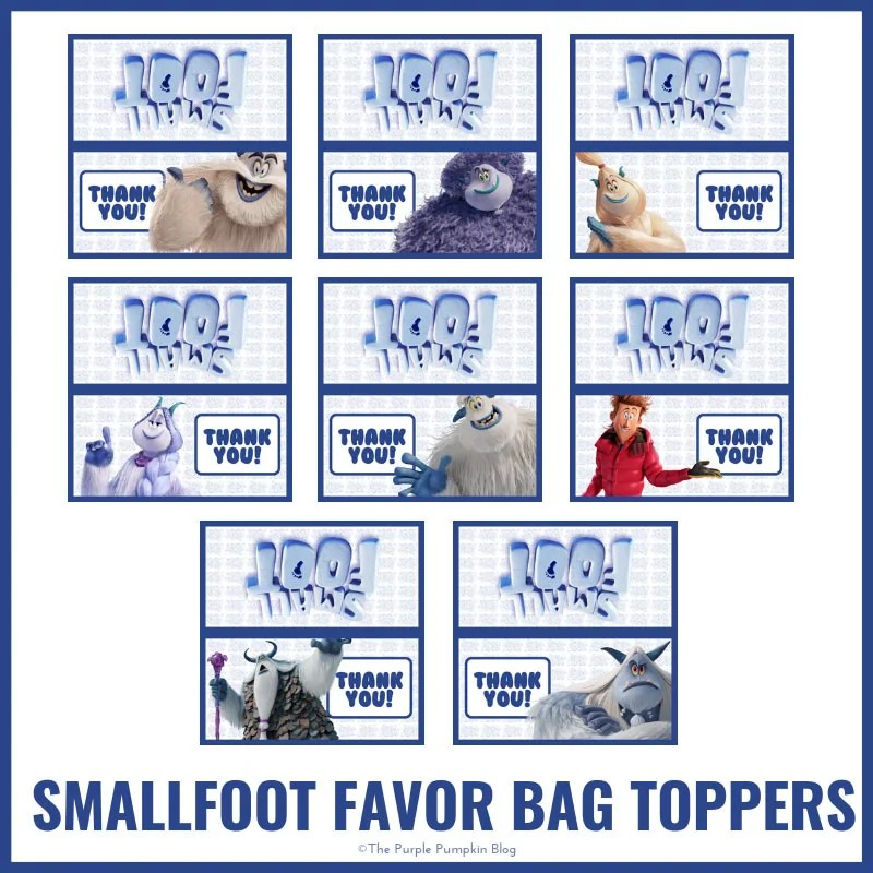 Smallfoot Favor Bag Toppers
