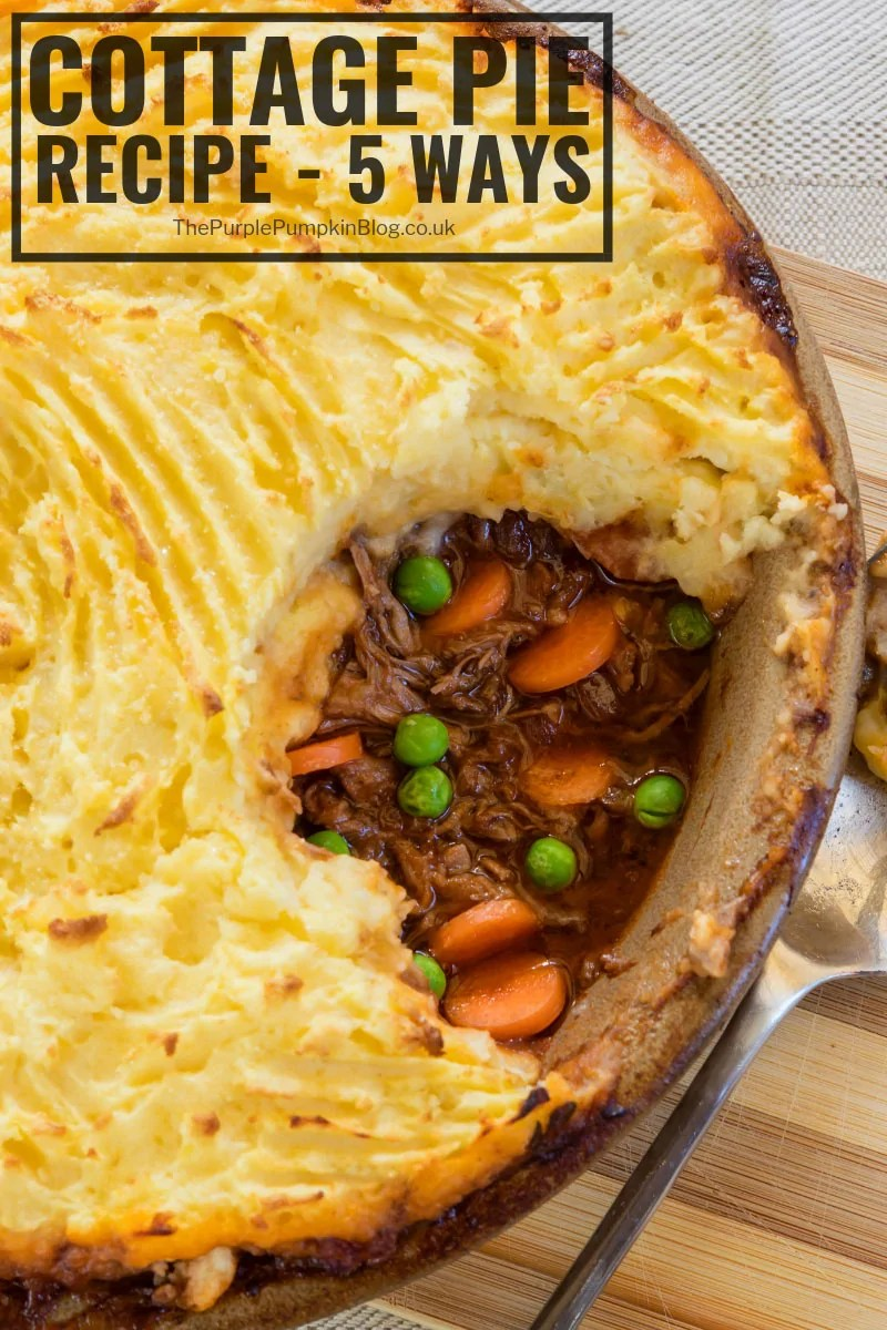 This Cottage Pie Recipe is the ultimate in comfort food! A traditional British recipe made with ground beef/beef mince and mashed potatoes. Get the full recipe and five different ways you can make it here.