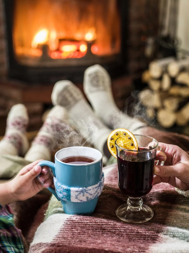 Cosy in front of fire