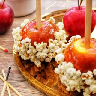 Salted Caramel Popcorn Apples