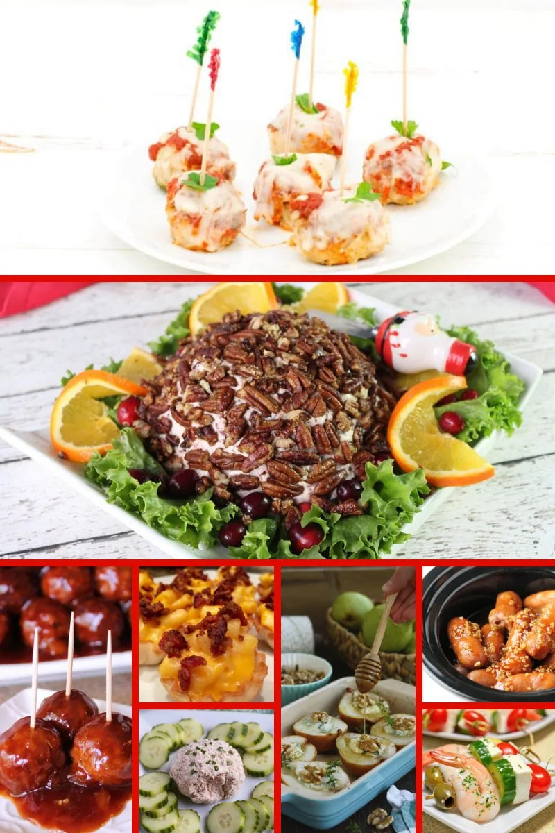 Keep this handy list of 100+ Christmas Party Food Recipes nearby and you will never run out of delicious appetisers, dips, snacks, and sweets to put on your Christmas buffet! Recipes are also great for work and school classroom parties, potlucks, and more. Save this list from The Purple Pumpkin Blog to use year after year!