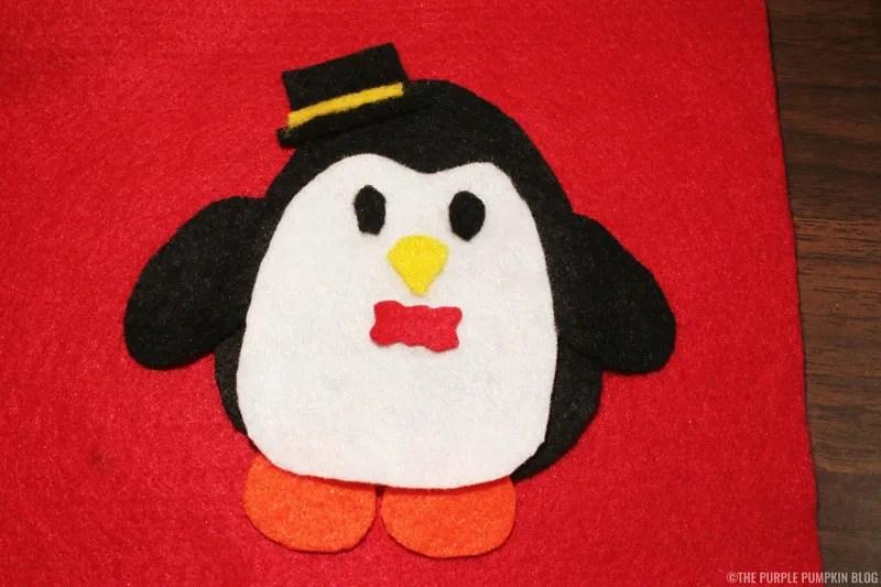 Easy to Make No-Sew Felt Christmas Ornament - assembly