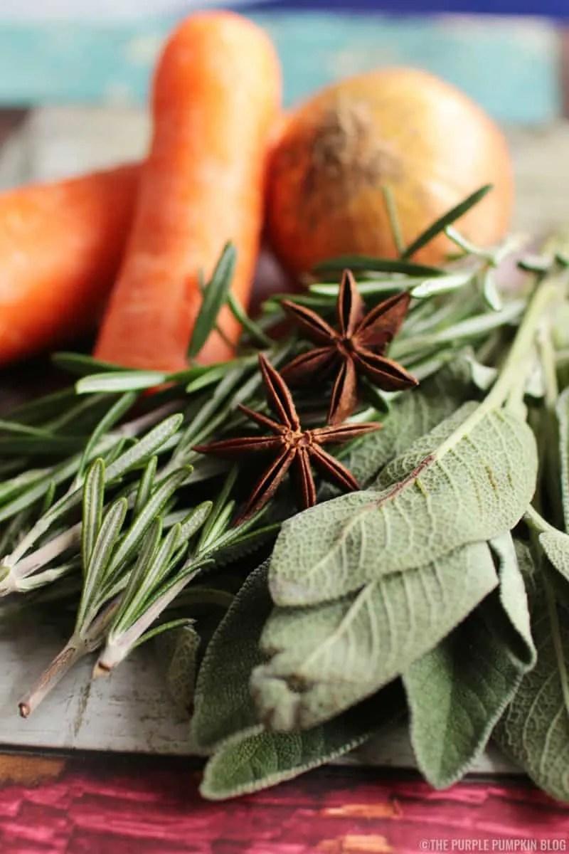 fresh herbs for turkey gravy