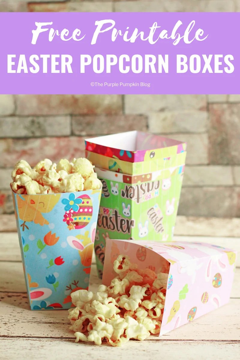 photo regarding Printable Popcorn Boxes named Absolutely free Printable Easter Popcorn Bins
