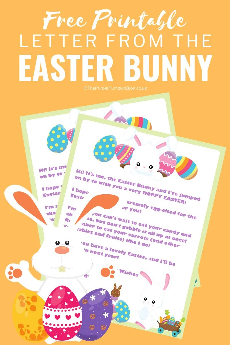 photo regarding Letter From Easter Bunny Printable identify Letter In opposition to The Easter Bunny! Totally free Printable