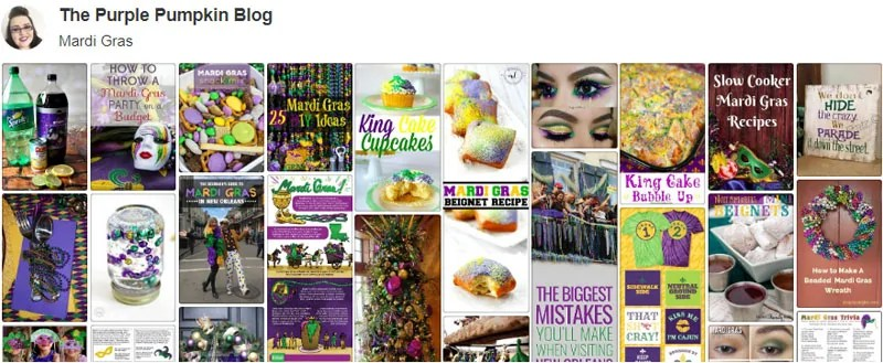 Mardi Gras Board on Pinterest