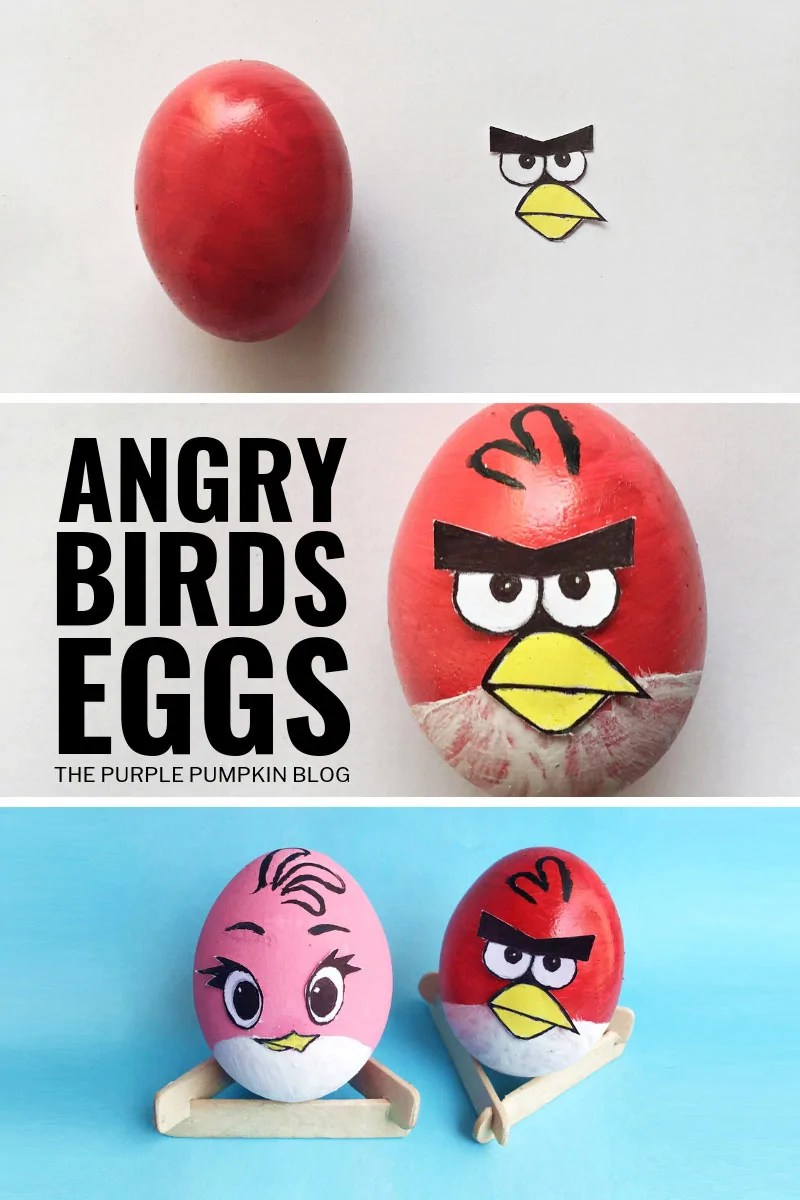 Angry Birds Eggs - Craft for Kids