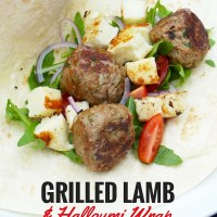 Grilled Lamb & Halloumi Wrap