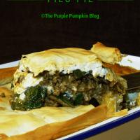 Lamb, Spinach & Feta Filo Pie