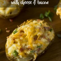 Loaded Jacket Potatoes {with Cheese & Bacon}