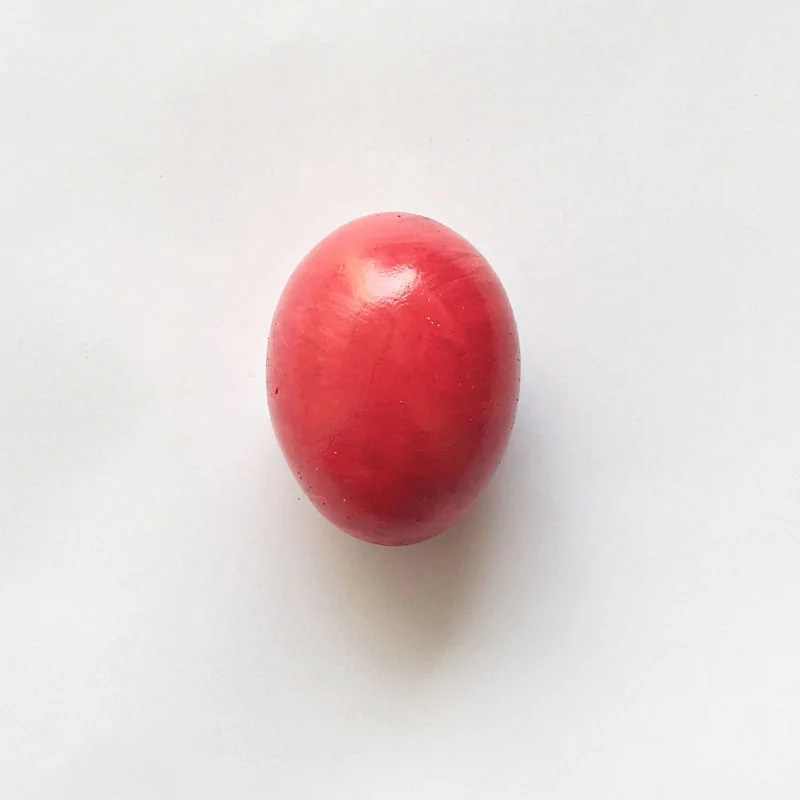 Painted Red Egg