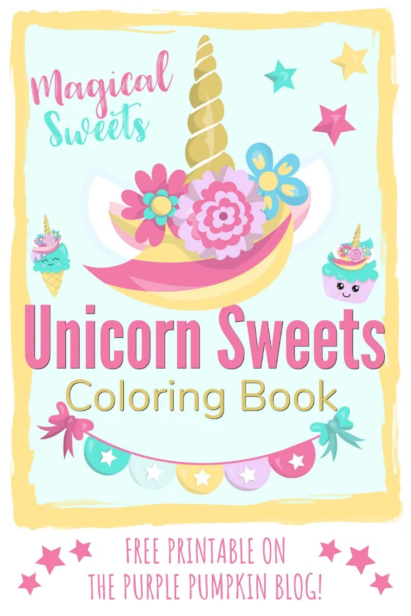 Sweet Unicorn Coloring Book