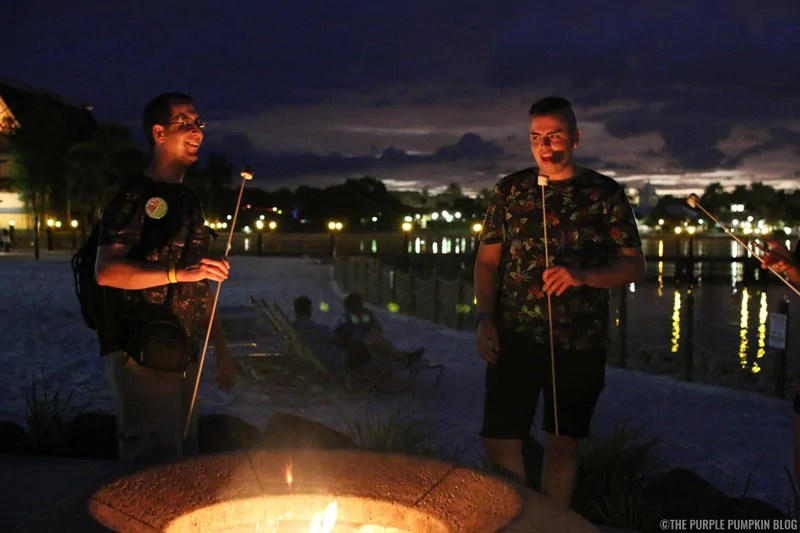 Toasting Marshmallows at Disney's Polynesian Village Resort