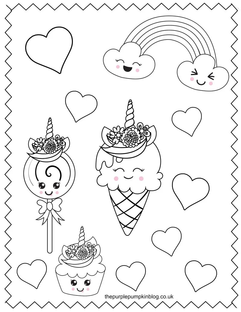 Fun Unicorn Coloring Pages