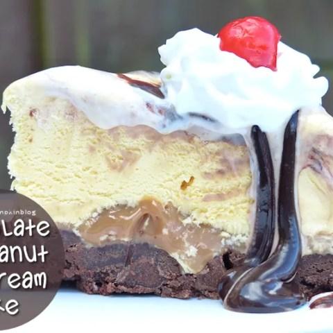 Chocolate + Peanut Ice Cream Cake