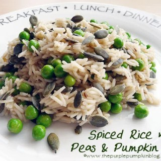 Spiced Rice with Peas & Pumpkin Seeds