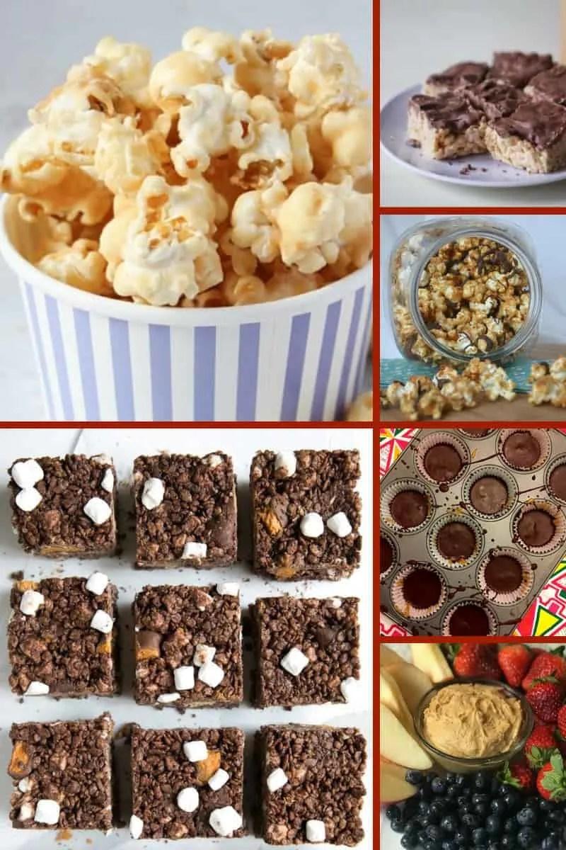 Peanut Butter Popcorn & Rice Krispies Treats