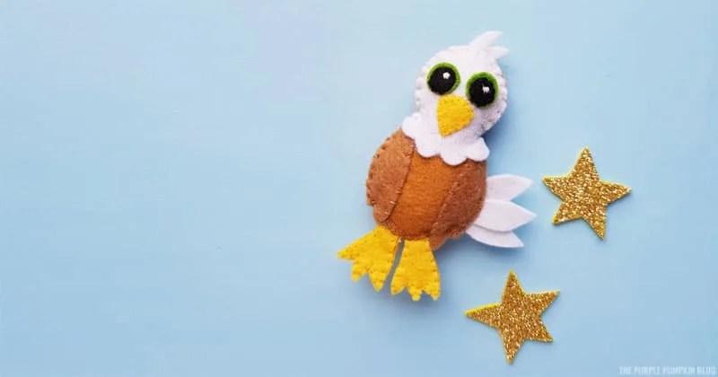 How to make a felt eagle plush