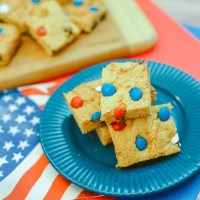 Red, White, and Blue Cookie Bars Recipe